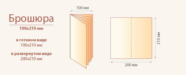 Размер брошюры 100x210