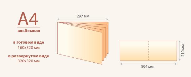 Размер брошюры